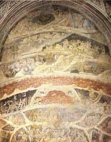 Nardo di Cione: L'Enfer. 1350s. Fresque. Florence, Santa Maria Novella, chapelle des Strozzi