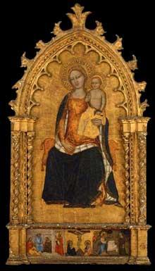 Niccolo di Tommaso: Vierge et enfant. Après 1360. Tempera sur panneau de bois, 101 x 70 cm. Boston, Museum of Fine Arts
