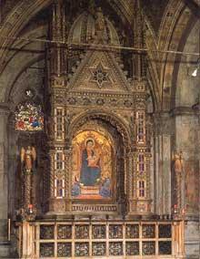 Orcagna: Tabernacle. 1359. Marbre, lapis lazuli, incrustations d'or et de verre. Florence, Orsanmichele