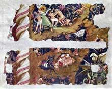 Orcagna: Le triomphe de la Mort. 1348. Fragment de fresque. Florence, Musée de l'œuvre de Santa Croce