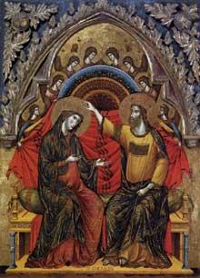 Paolo Veneziano: Couronnement de la Vierge. 1324. Tempera sur panneau de bois, 99 x 78 cm. Washington, National Gallery of Art