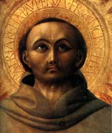 Sassetta: l'extase de Saint François, détail. 1437-1444. Tempera sur bois, 190 x 122 cm. Settignano, Villa i Tatt