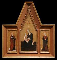 La Vierge et l'Enfant entourés de sainte Appoline et sainte Marguerite. Vers 1435. Tempera sur bois. Washington, National Gallery of Art