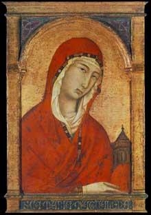 Segna di Buonaventura: Sainte Madeleine. Bois, 44,2 x 29,1 cm. Munich, Alte Pinakothek