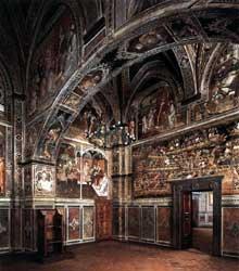 Spinello Aretino: Scènes de la vie d'AlexandreIII. 1407. Fresque. Sienne, Palazzo Publico