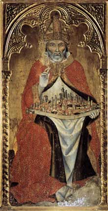 Taddeo di Bartolo: San Gimignano. Vers 1391. Tempera sur panneau de bois. San Gimignano, Museo Civico