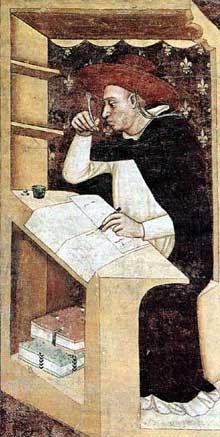 Tommaso da Modena: Le cardinal Hugo du Billon. 1352. Fresque. Trévise, chapitre de San Niccolò