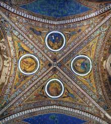 Jacopo Torriti: Dééesis. 1290s. Fresque. Assise, église supérieure Saint François