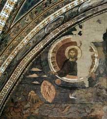 Jacopo Torriti: La création du monde. 1290s. Fresque. Assise, église supérieure Saint François