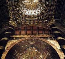 Jacopo Torriti: Couronnement de la Vierge. 1296. Mosaïque. Rome, Santa Maria Maggiore