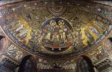 Jacopo Torriti: Le Christ couronne la vierge.1296. Mosaïque. Rome, Santa Maria Maggiore