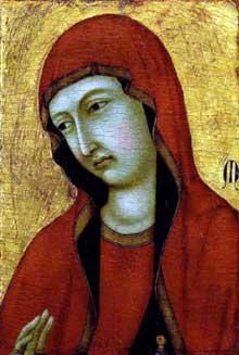 Ugolino da Nerio: Sainte Marie Madeleine. Vers 1320. Tempera sur panneau de bois, 37 x 25 cm. Boston, Museum of Fine Arts
