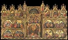 Paolo Veneziano (v. 1300-1360): Polyptique. Vers 1350 Tempera sur panneau, 167 x 285 cm.  Venise, Gallerie dell'Accademia