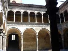 Bologne: le palais Bevilacqua. (Histoire de l'art - Quattrocento