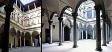 Benedetto et Giuliano da Maiano: le palais Strozzi de Florence: la cour intérieure. 1489ss. (Histoire de l'art - Quattrocento
