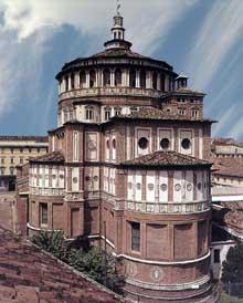 Donato Bramante (1444-1514); église Santa Maria delle Grazie, Milan. 1492ss. (Histoire de l'art - Quattrocento