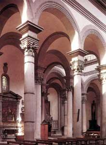 Filippo Brunelleschi (1377-1446): l'église San Spirito. 1426ss. (Histoire de l'art - Quattrocento