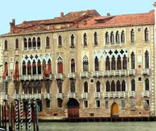 Venise: le palais de la Ca Foscari. (Histoire de l'art - Quattrocento