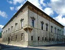 Ferrare: vue extérieure du palais des Diamants. (Histoire de l'art - Quattrocento