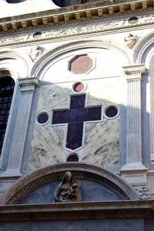 Pietro Lombardo: placages de marbre de Santa Maria dei Miracoli à Venise. (Histoire de l'art - Quattrocento