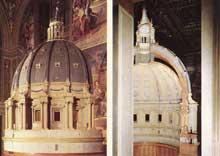 Maquette pour la coupole de Saint Pierre de Rome. 1560. Bois. Rome, musée du Vatican