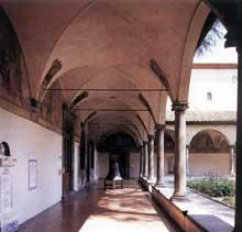 Michelozzi Di Bartolomeo (1396-1472): le cloître du couvent saint Marc de Florence. 1430ss. (Histoire de l'art - Quattrocento