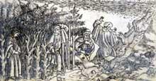 Baccio Baldini (1436-1487): l'enfer I. Vers 1481. Gravure sur cuivre. Florence, Biblioteca Riccardiana. (Histoire de l'art - Quattrocento