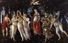 Sandro Botticelli: Primavera. Vers 1482.Tempera sur panneau, 203 x 314 cm. Florence, galerie des Offices