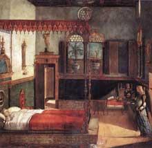 Vittore Carpaccio (1472-1526): le rêve de Sainte Ursule. 1495. Venise, Galleria dell'Accademia. (Histoire de l'art - Quattrocento