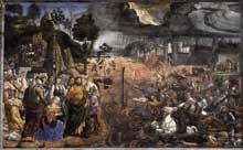 Cosimo Rosselli: la traversée de la mer Rouge. 1481-1482. Fresque, 350x572cm. Vatican, chapelle Sixtine.