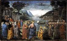 Domenico Ghirlandaio: L'appel des apôtres Pierre et André. 1481. Fresque, 349-570. Vatican, Chapelle Sixtine
