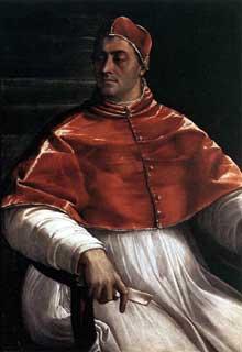 Sebastiano del Piombo: ClémentVII. 1526. Naples, Musée Capodimonte