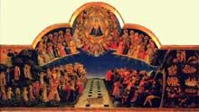 Fra Angelico: le Jugement dernier. Vers 1451. Huile bois  105 x 210cm. Florence, Musée San Marco