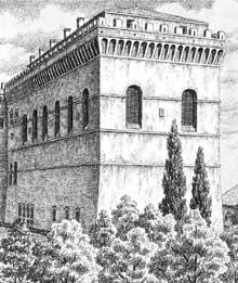Chapelle Sixtine, Vatican: reconstitution de la chapelle avant les transformations du XVIè