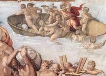 Le déluge. 1508-1509. Fresque, 280 x 570 cm. Chapelle Sixtine, Vatican