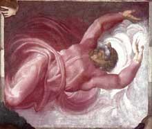 Dieu sépare la lumière des ténèbres. 1511. Fresque. Chapelle Sixtine, Vatican