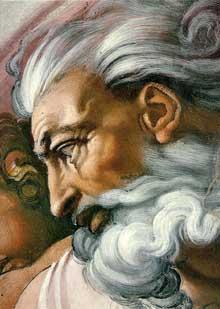 La création d'Adam. 1510. Fresque, 280 x 570 cm. Chapelle Sixtine, Vatican