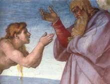 La création d'Eve. 1509-1510. Fresque, 170 x 2960 cm. Chapelle Sixtine, Vatican