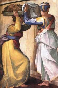 Judith et Holopherne. Pendentif coté entrée. 1509. Fresque, 570 x 970 cm. Chapelle Sixtine, Vatican