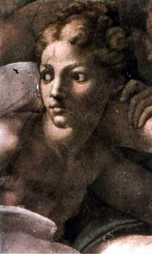 La création d'Adam, détail. 1510. Fresque, 280 x 570 cm. Chapelle Sixtine, Vatican