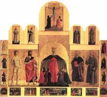 Piero della Francesca (1416-1492): Le polyptique de la Miséricorde. 1445-1462. Huile et tempera sur panneau, 330 cm (base) x 273 cm (hauteur). Borgo Sansepolcro, Pinacoteca Comunale. (Histoire de l'art - Quattrocento