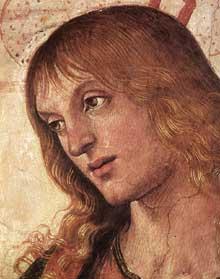 Le Pérugin: le Christ remet les clefs à saint Pierre (1481-1482). Détail: tête d'apôtre. Fresque, 335 x 550cm. Chapelle Sixtine, Vatican