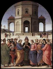 Le mariage de la vierge. 1500-1504. Huile sur bois, 234 x 185cm. Caen, Musée des Beaux Arts