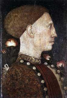 Antonio Pisanello (1395-1455): portrait de Leonello d'Este. 1441 Tempera sur bois, 28 x 19 cm. Bergame, Accademia Carrara. (Histoire de l'art - Quattrocento