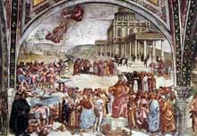 L'antéchrist. 1499-1502. Fresque. Chapelle San Brizio du dôme d'Orvieto