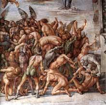 Luca Signorelli: les damnés. 1499-1502. Fresque. Chapelle saint Brice, dome d'Orvieto