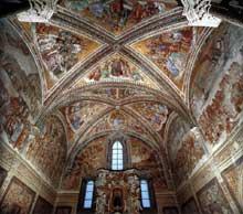 Luca Signorelli: fresques de la chapelle San Brizio. 1499-1502. Vue générale. Dôme d'Orvieto