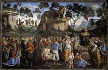 Signorelli – Della Galla: Le testament et mort de Moïse. 1481-1482. Fresque, 350 x 572 cm. Chapelle Sixtine, Vatican