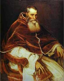 Le Titien: le Pape Paul III. 1543. Huile sur toile. Naples,  Museo Nazionale di Capodimonte