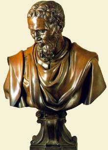 Daniele de Volterra: buste de Michel Ange. Bronze. Florence, musée national du Bargello